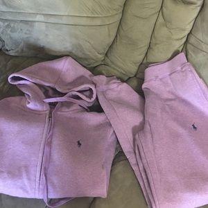 Women's polo purple sweat suit